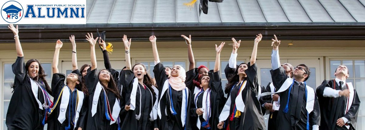 Banner Image of High School graduates tossing their mortarboards in the air