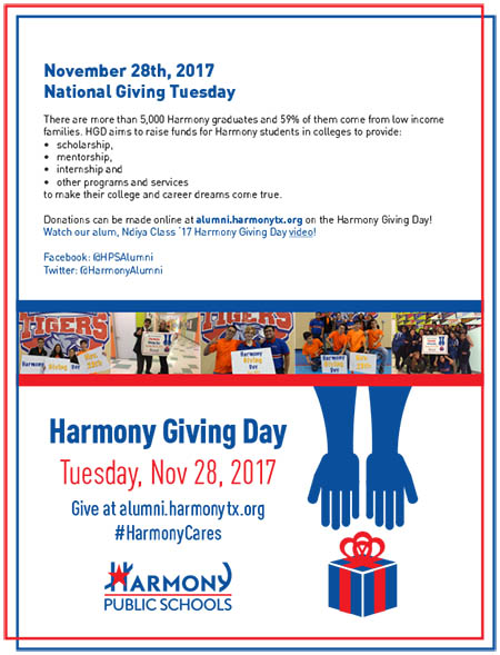 November 28th, 2017 | Harmony giving Day