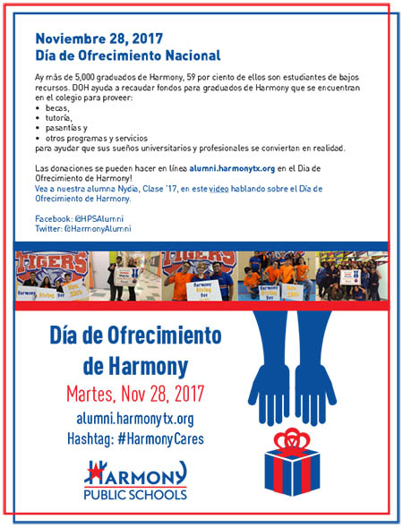 November 28th, 2017 | Harmony giving Day | Spanish