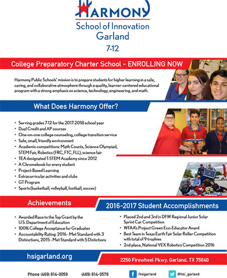 Enrollment Information -- Harmony School of Innovation Garland
