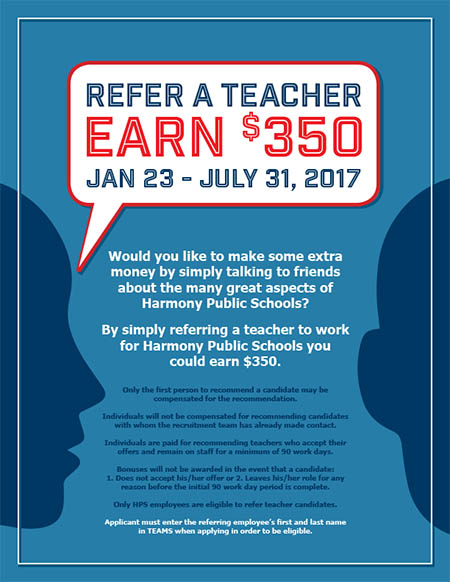 Refer a Teacher | Earn $350