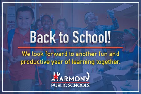 Back to School! We look forward to another fun and productive year of learning together.